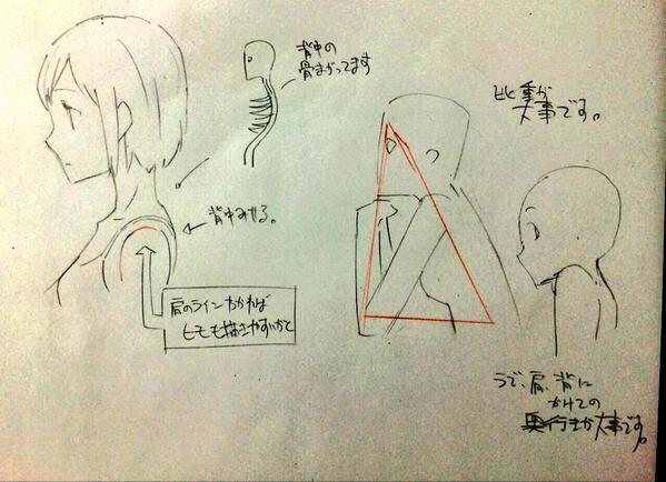 横の体の描き方01