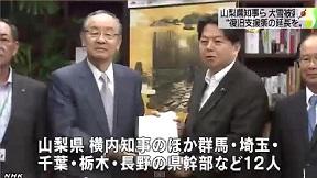 関東甲信6県知事 雪害支援の延長を要請
