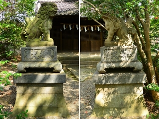 市原稲荷神社の狛犬