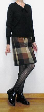 格子柄スカート4