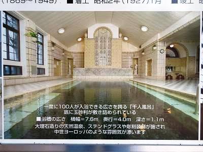 片倉館の「千人風呂」