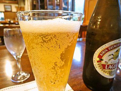 3日目夕食時のビール