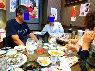 午前3時の飲み友O氏・Y氏と食いしん坊集団