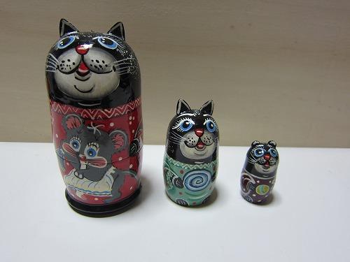 ネコリョーシカ(黒猫)4
