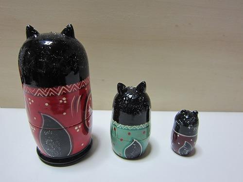 ネコリョーシカ(黒猫)5
