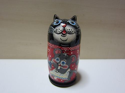 ネコリョーシカ(黒猫)1
