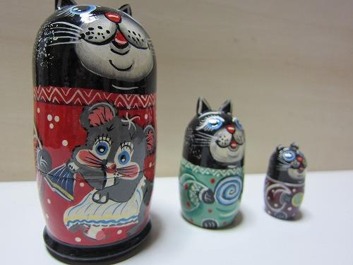 ネコリョーシカ(黒猫)6