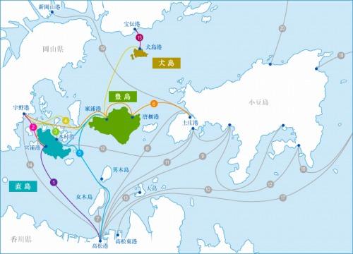 瀬戸内海島々へのアクセス