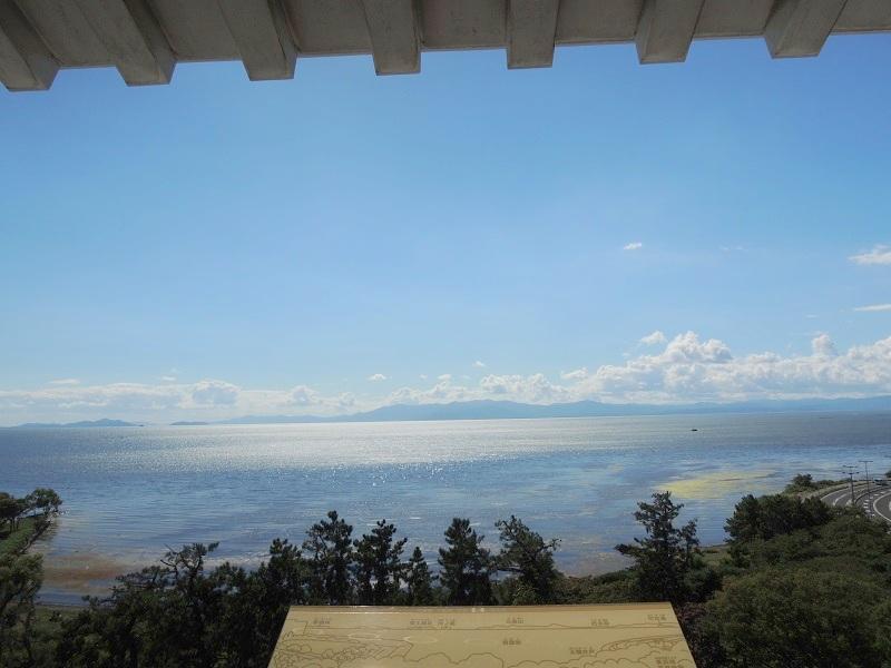 天守閣からの琵琶湖の眺め
