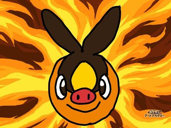 3DS ポケモン ポケモンアートアカデミー 入学試験 ケロマツ ポッツチャマ ミジュマル ポカブ