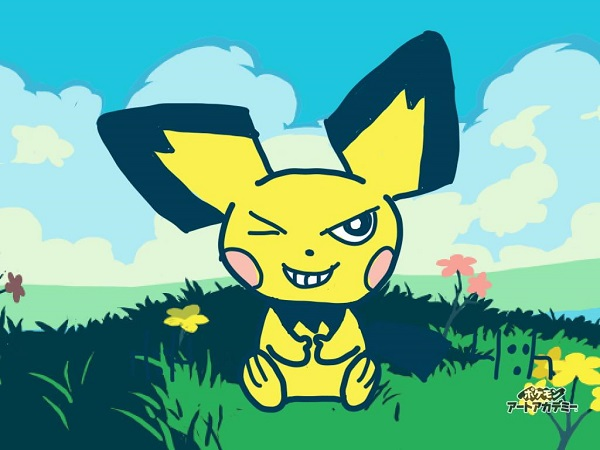 3DS ポケモン POKEMON ポケモンアートアカデミー artacademy 絵画教室 ゲンガー ピチュー パチリス カイジ風