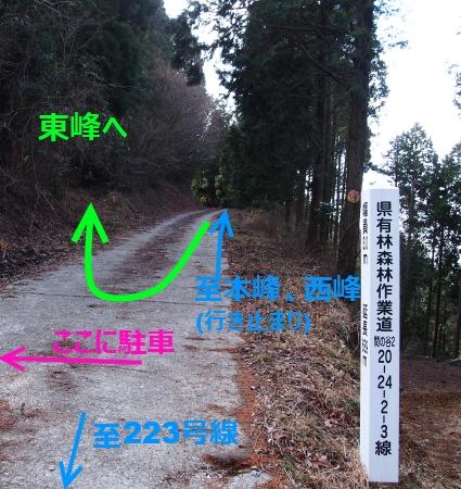 7東峰登山口1