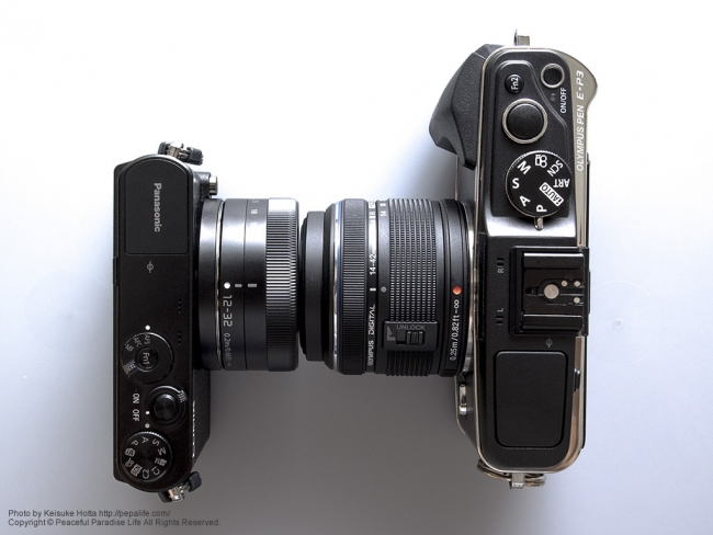 Panasonic LUMIX GM (DMC-GM1K) とOLYMPUS PEN E-P3