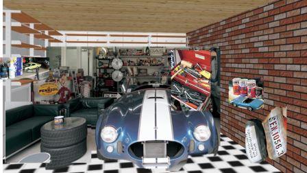 男の隠れ家ガレージイメージ