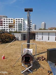 煙突ポートの初検証 シリンダー横置きで