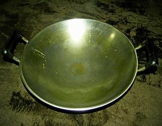 ステンレス製中華鍋