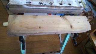 作業テーブルの天板を交換