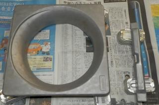 サンドブラスト後の換気扇枠