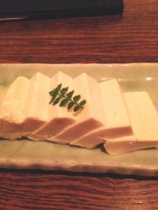 豆腐の刺身