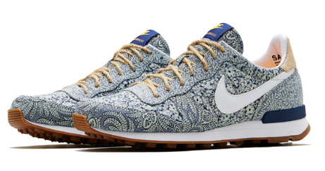 Blue Liberty Print Internationalist Trainers