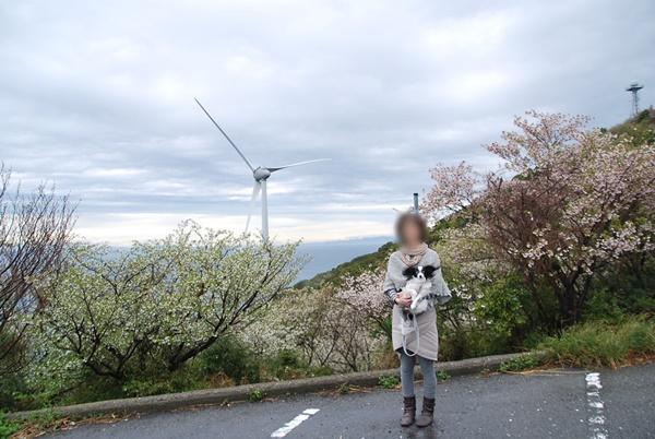 日の岬で記念撮影