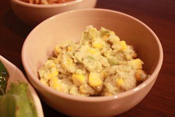 アボカドポテトのコーンサラダ