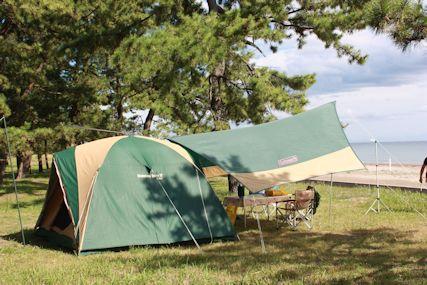 2014鉢ヶ崎キャンプ場テント1