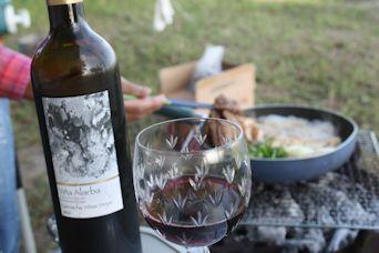2014鉢ヶ崎キャンプめし赤ワイン