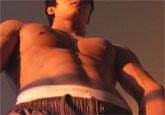 ゲイ動画:激エロ筋肉の体育会、仮面のぶっ飛び射精 !! 好帥哥