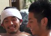 ゲイ動画:彼氏とラブラブガン掘り温泉旅行の巻 !! 好帥哥