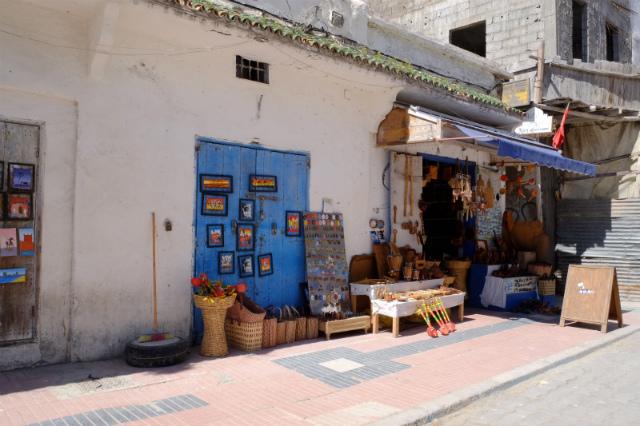 雑貨売りの街頭
