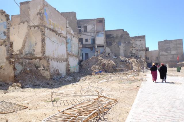 壊される建物