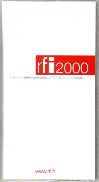 2000年 rfi Radio France Internationale (フランス)の手帳より