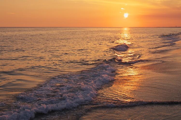 遠州灘の夕暮れ