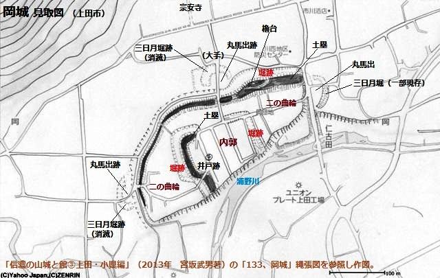 岡城見取図①(上田市)