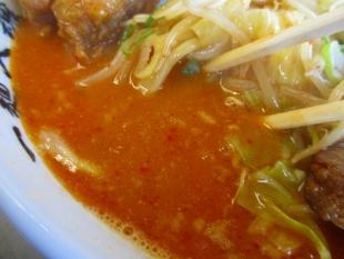 ドカメン 辛味噌肉4種盛 スープ
