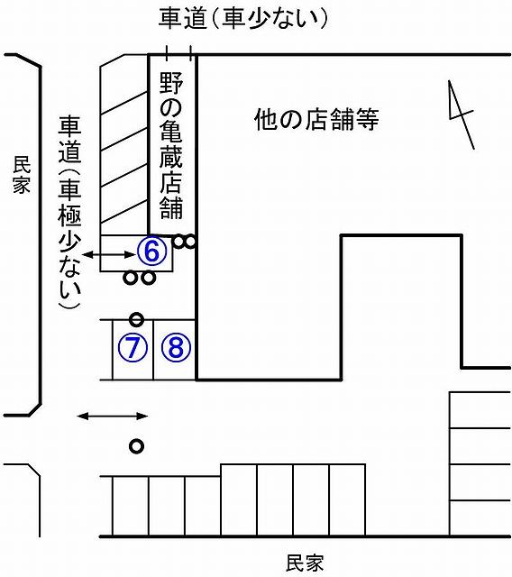 野の亀蔵駐車場見取り図01