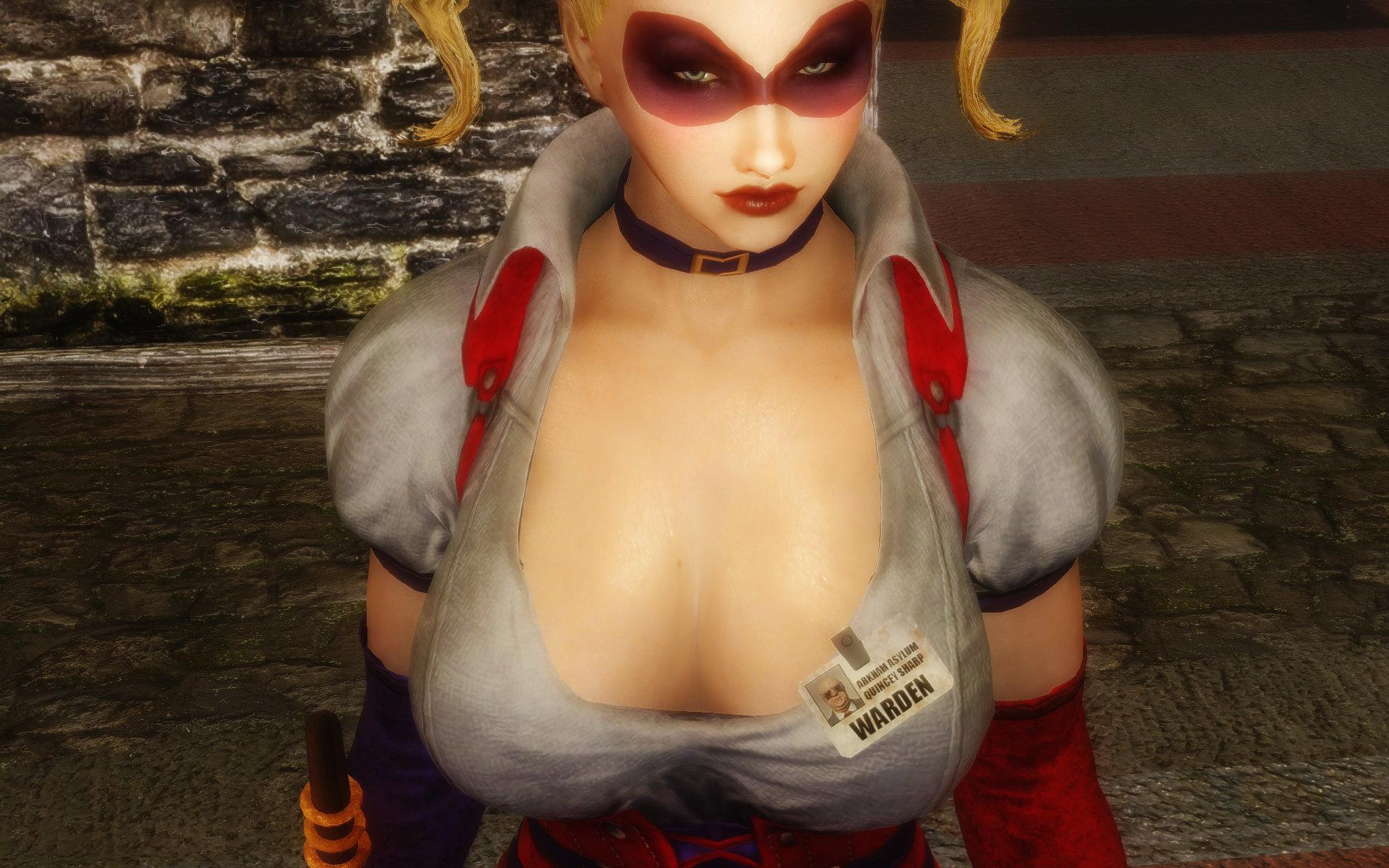 Harley Quinn Arkham Asylum Outfits No-Bra style
