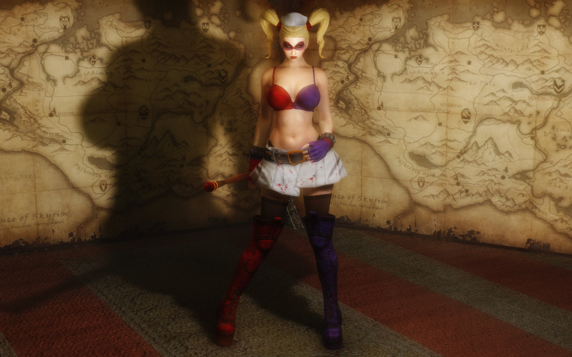 Harley Quinn Arkham Asylum Outfits without Top