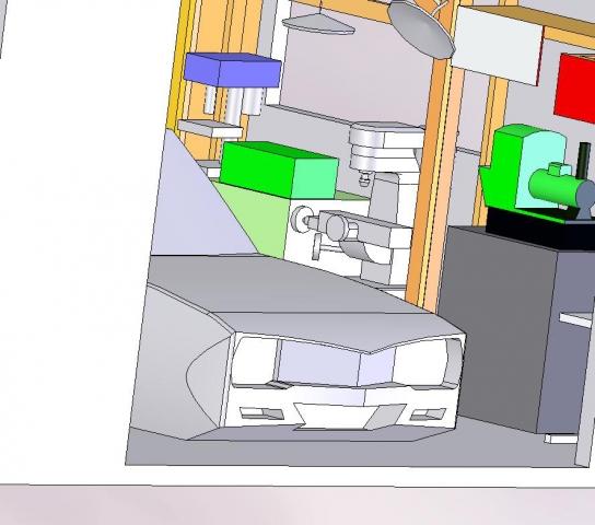 ヒノモトロータリーベース 日野十日町機関区の機械加工スペースの3D