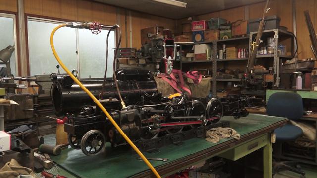 タキセ製作所で修理中のD51