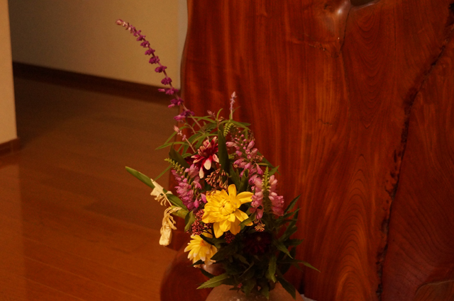 農協の組合員、発動機仲間のおじいさんから頂いた、花