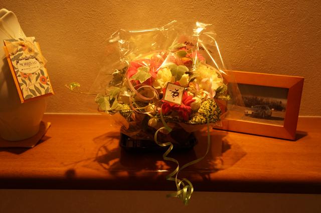 高校の同級生から貰った花