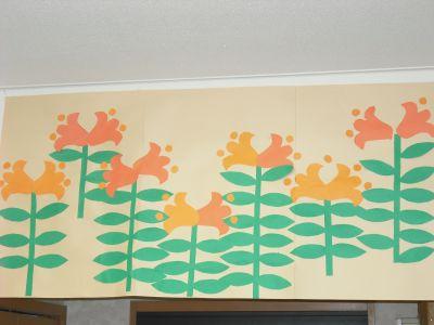 ユリの壁絵