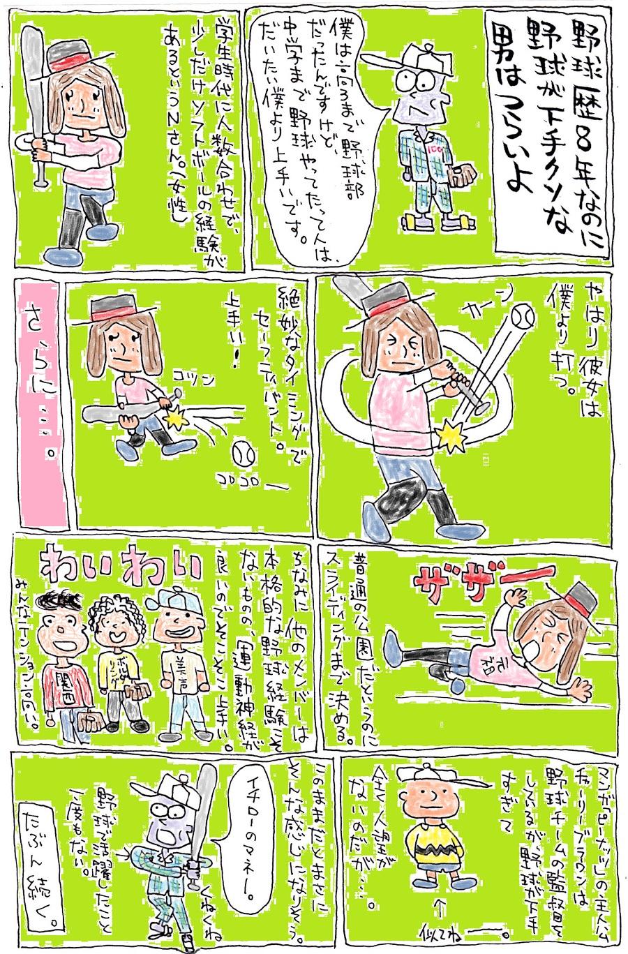 ブログ漫画 野球3