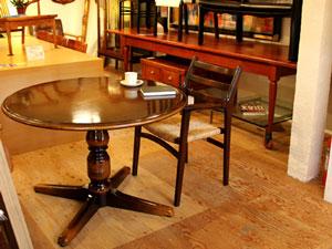 飛騨産業 穂高 ラウンドテーブル ウィンザーシリーズ ダイニングテーブル