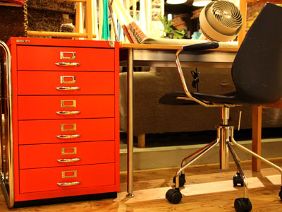 BISLEY ビスレー BASIC F6 6段キャビネット レッド オフィス家具