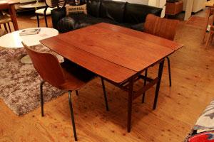 デンマーク製 ドローリーフテーブル 伸長式 エクステンションテーブル 北欧
