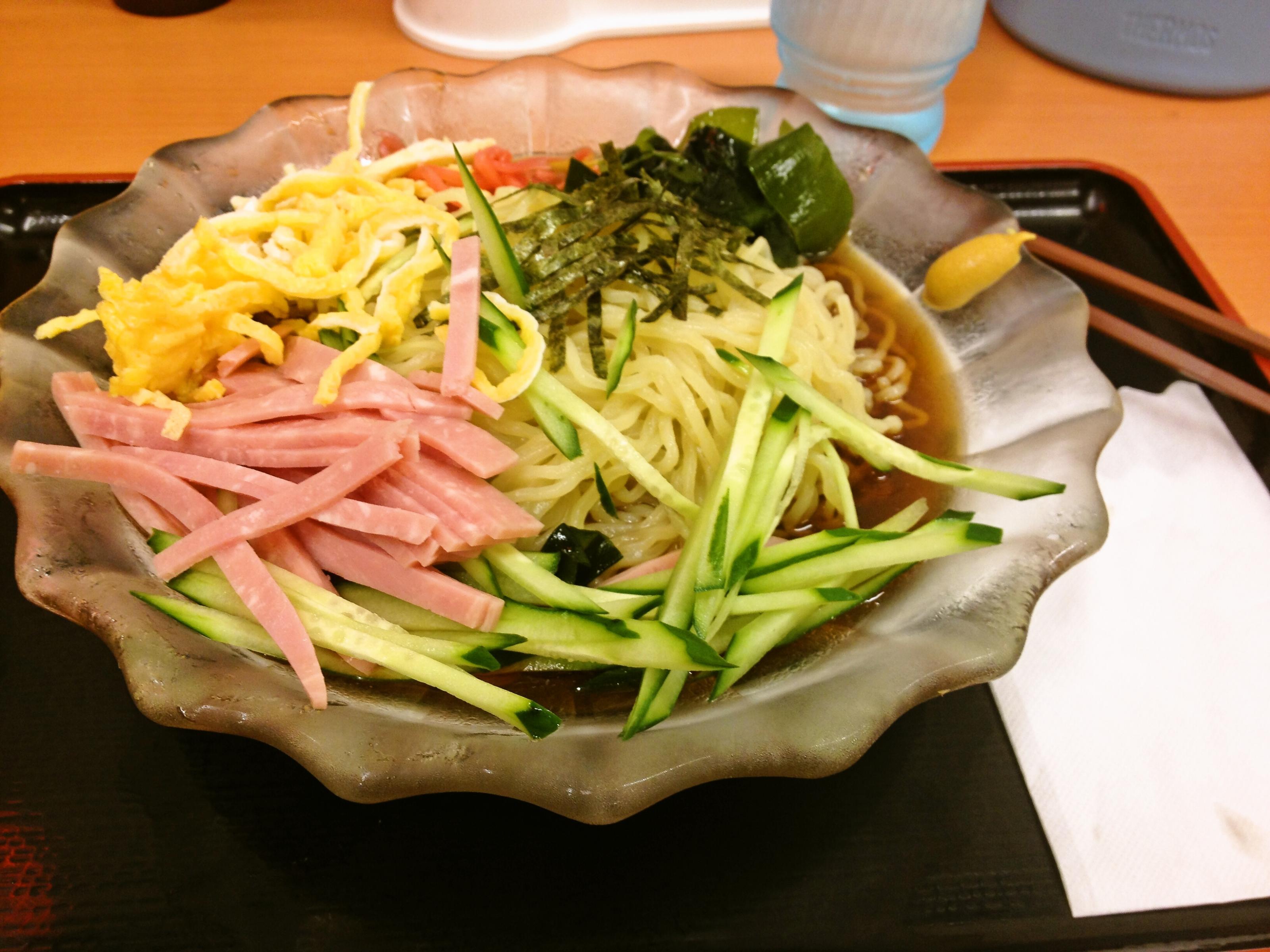 日高屋さんの黒酢醤油冷し麺