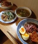 20140824冷麺つみれ中華スープ山芋バター